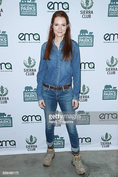 Darby Stanchfield attends Sierra Club National Parks Conservation Assoc EMA 'Give Back Day' to celebrate the National Park Service Centennial at...