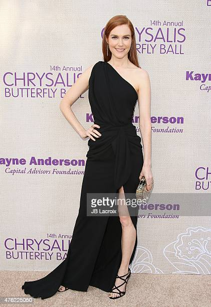Darby Stanchfield attends the 14th annual Chrysalis Butterfly Ball sponsored by Audi Kayne Anderson Lauren B Beauty and Z Gallerie on June 6 2015 in...