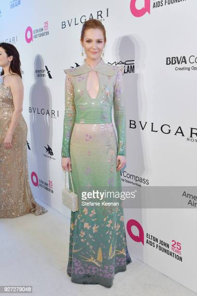 Darby Stanchfield attends the 26th annual Elton John AIDS Foundation Academy Awards Viewing Party sponsored by Bulgari celebrating EJAF and the 90th...