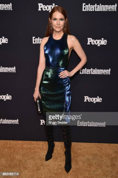 Darby Stanchfield of Scandal attends the Entertainment Weekly and PEOPLE Upfronts party presented by Netflix and Terra Chips at Second Floor on May...