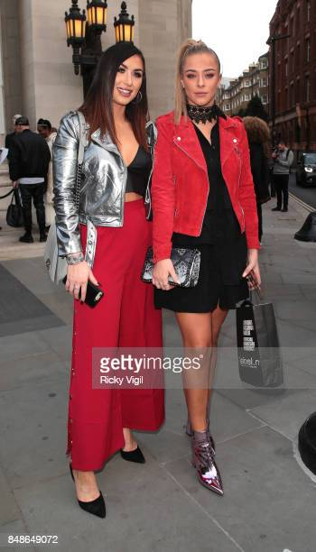 Darby Ward and Taylor Ward seen at LFW s/s 2018 House of MEA catwalk show at Freemasons Hall during London Fashion Week September 2017 on September...