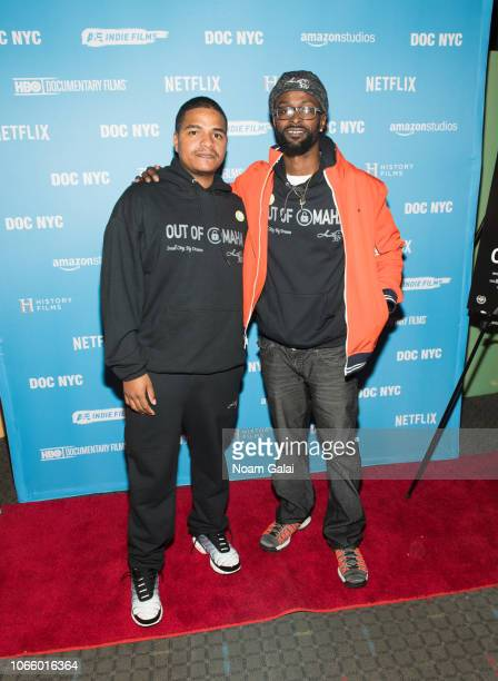 Darcell Trotter adn Anthony Kellogg attend 'Out Of Omaha' screening during the 9th Annual DOC NYC at SVA Theater on November 10 2018 in New York City