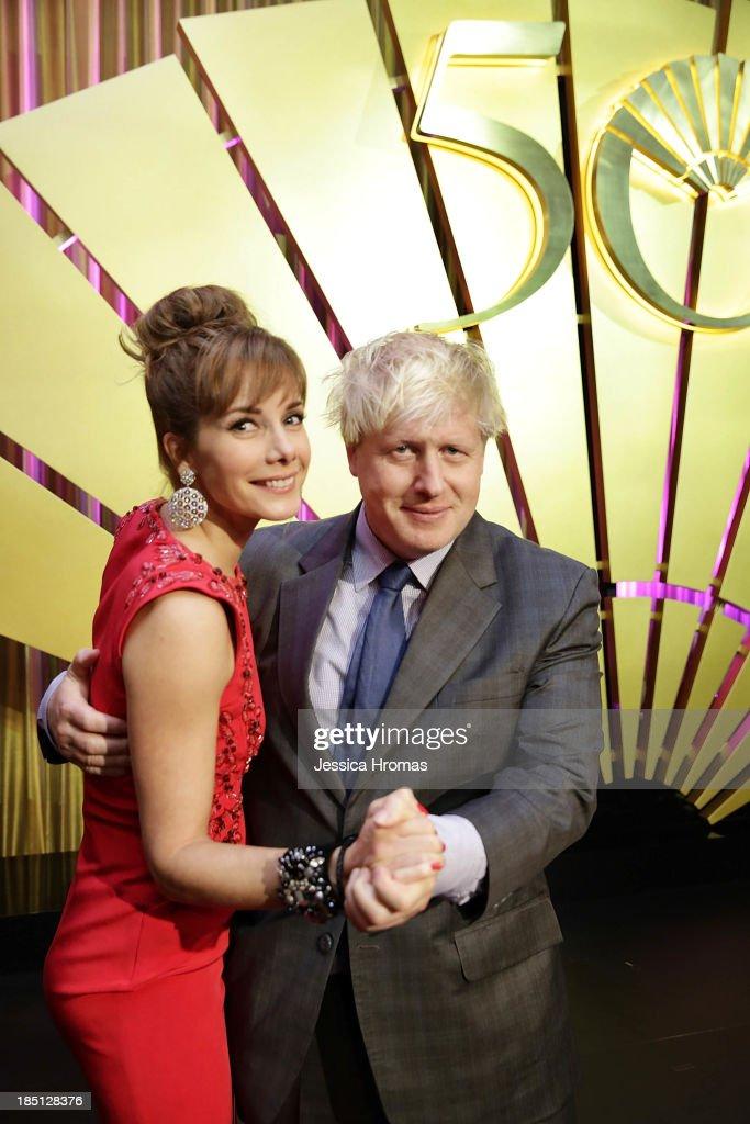 Darcey Bussel and Boris Johnson attend Mandarin Oriental Hong Kong's 50th Anniversary Gala on October 17, 2013 in Hong Kong.
