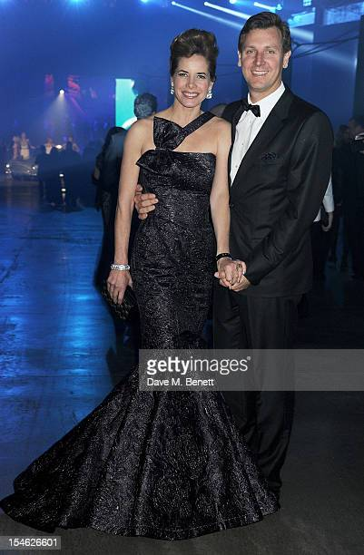 Darcey Bussell and Angus Forbes attend an after party for the Royal World Premiere of 'Skyfall' at the Tate Modern on October 23 2012 in London...