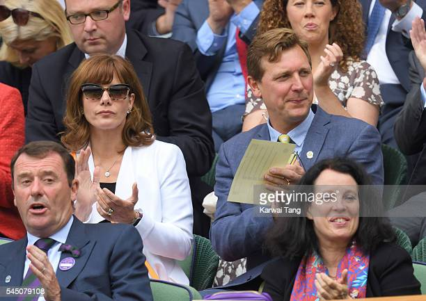 Darcey Bussell and Angus Forbes attend day eight of the Wimbledon Tennis Championships at Wimbledon on July 05 2016 in London England