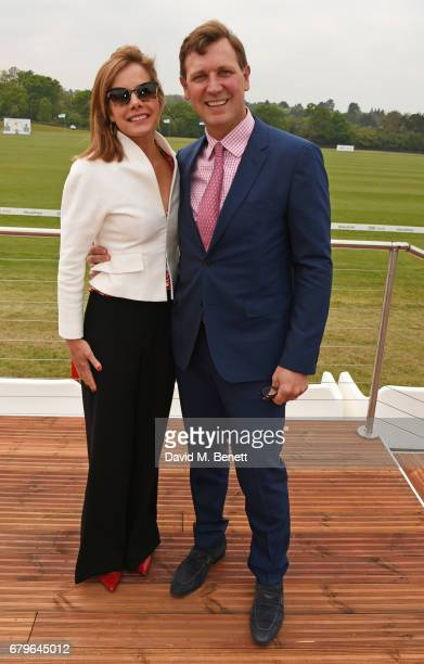 Darcey Bussell and Angus Forbes attend the Audi Polo Challenge at Coworth Park on May 6 2017 in Ascot United Kingdom