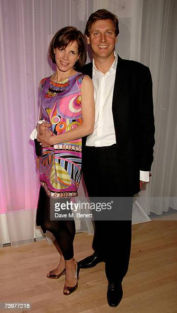 Darcey Bussell and Angus Forbes attend the LaurentPerrier Pink party celebrating their Rose Brut champagne at the Sanderson Hotel on April 25 2007 in...