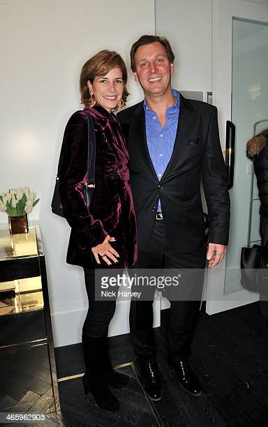 Darcey Bussell and Angus Forbes attend the opening of the new Amanda Wakeley store on January 30 2014 in London England