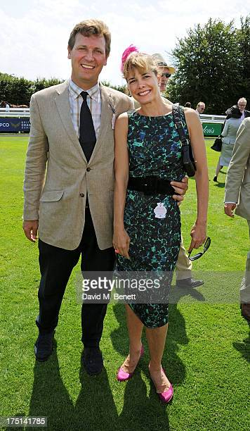 Darcey Bussell and husband Angus Forbes attend Ladies Day hosted by Audi at Glorious Goodwood held at Goodwood Racecourse on August 1 2013 in...