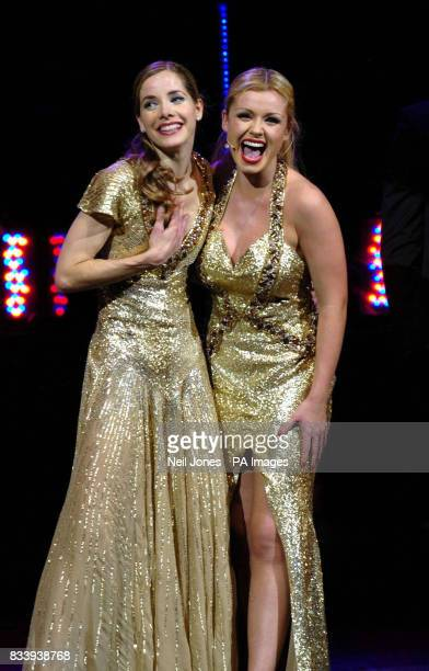 Darcey Bussell and Katherine Jenkins perform during the press night for Viva La Diva at the Lyric Theatre The Lowry Salford Quays in Manchester