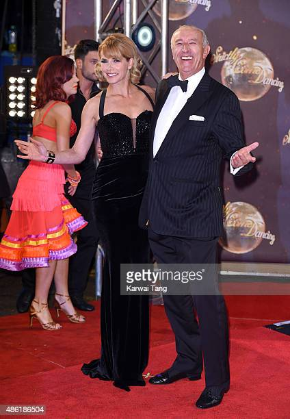 Darcey Bussell and Len Goodman attend the red carpet launch of Strictly Come Dancing 2015 at Elstree Studios on September 1 2015 in Borehamwood...