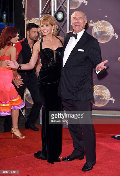 Darcey Bussell and Len Goodman attend the red carpet launch of 'Strictly Come Dancing 2015' at Elstree Studios on September 1 2015 in Borehamwood...