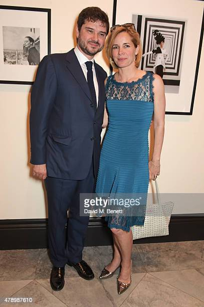 Darcey Bussell and Luca Dotti attend a private view of new exhibition Audrey Hepburn Portraits Of An Icon at the National Portrait Gallery on June 29...