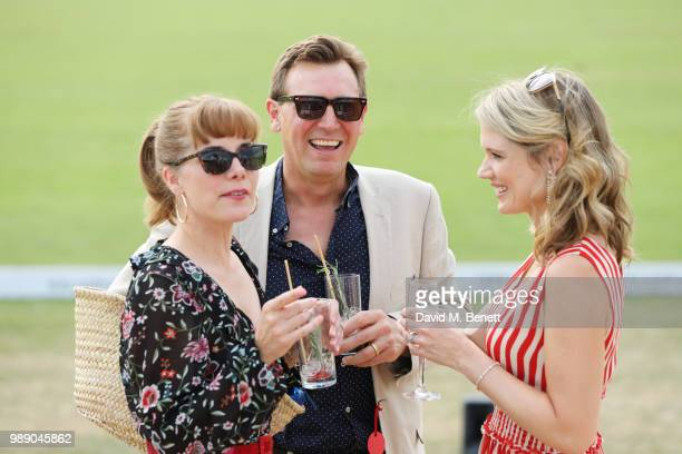 Darcey Bussell Angus Forbes and Charlotte Hawkins attends the Audi Polo Challenge at Coworth Park Polo Club on July 1 2018 in Ascot England