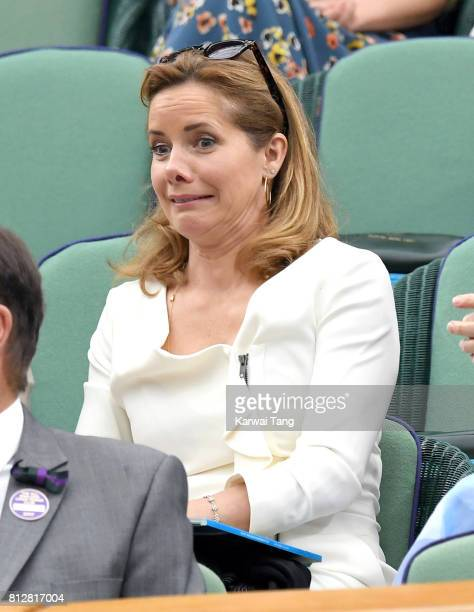 Darcey Bussell attends day eight of the Wimbledon Tennis Championships at the All England Lawn Tennis and Croquet Club on July 11 2017 in London...