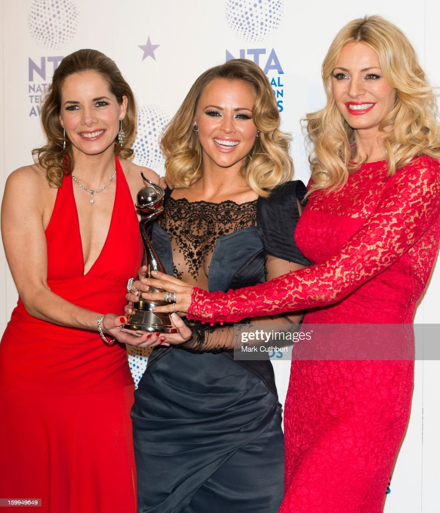 Darcey Bussell, Kimberley Walsh and Tess Daly, winner of Talent Show award for 'Strictly Come Dancing' poses in the Winners room at the National Television Awards at 02 Arena on January 23, 2013 in London, England.