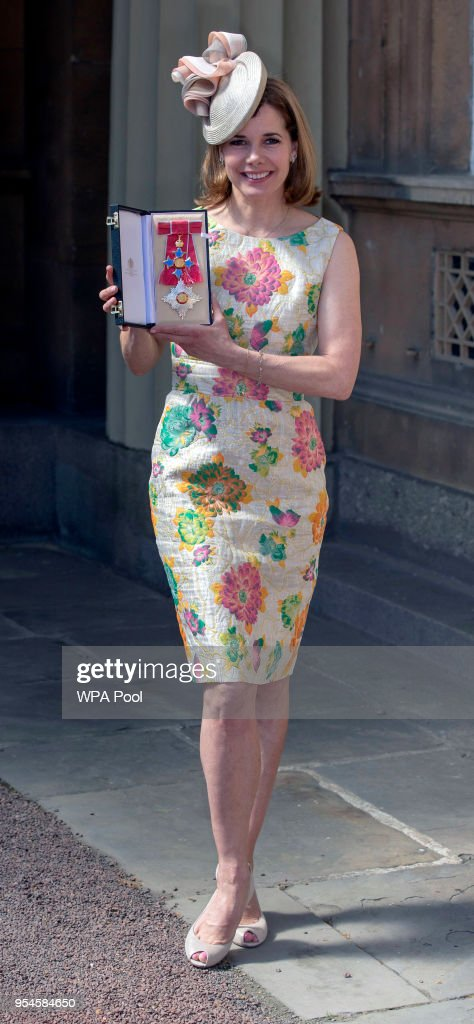 Darcey Bussell poses following an Investiture ceremony, where she was made a Dame Commander of the British Empire at Buckingham Palace on May 4, 2018 in London, England.