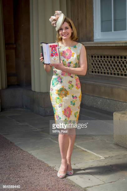 Darcey Bussell poses following an Investiture ceremony where she was made a Dame Commander of the British Empire at Buckingham Palace on May 4 2018...
