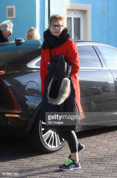 Darcey Bussell seen leaving her hotel to head to rehearsals at the Tower Ballroom on November 18 2017 in Blackpool England
