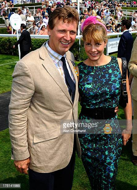 Darcey Bussell with husband Angus Forbes at Goodwood racecourse on August 01 2013 in Chichester England