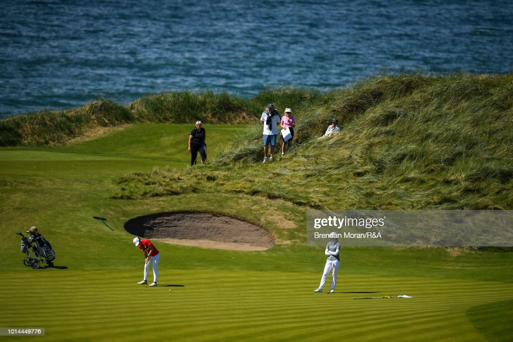 Darcey Harry of Wales putts on the 15th green during her Junior Singles match at the Ladies' and Girls' Home Internationals at Ballybunion Golf Club on August 10, 2018 in Ballybunion, Ireland.