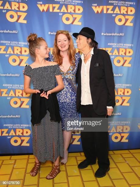 Darcey O'Brien Miranda Otto and Barry Otto attend The Wizard of Oz Sydney Premiere at Capitol Theatre on January 4 2018 in Sydney Australia