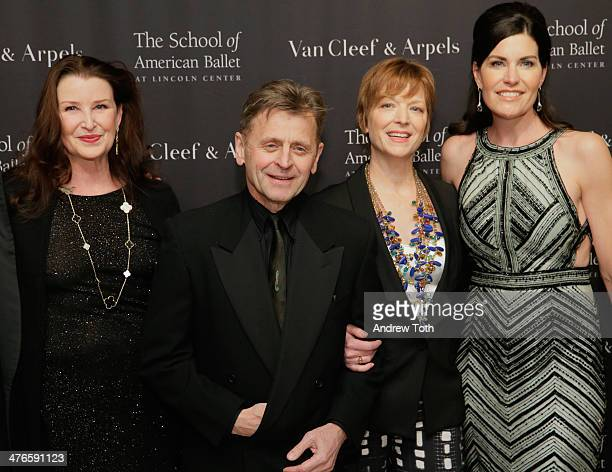 Darci Kistler Mikhail Baryshnikov Lisa Rinehart and Dianna DiMenna attend the School of American Ballet 2014 Winter Ball at David Koch Theatre at...
