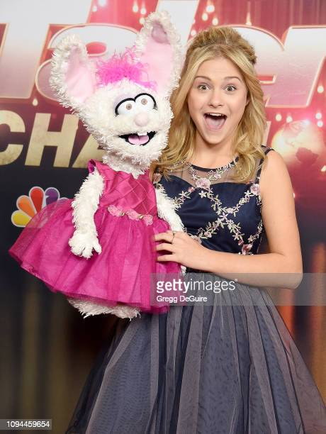 Darci Lynne arrives at America's Got Talent The Champions Finale at Pasadena Civic Auditorium on October 17 2018 in Pasadena California