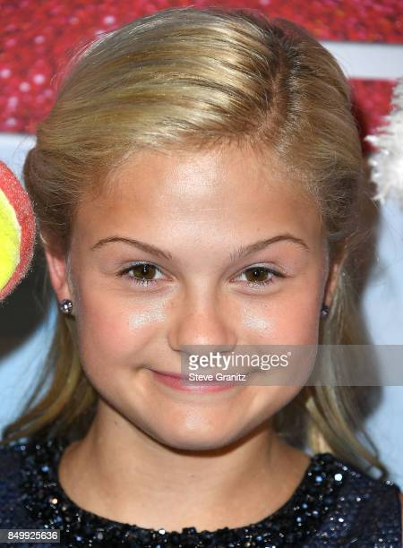 """Darci Lynne arrives at the NBC's """"America's Got Talent"""" Season 12 Finale Week at Dolby Theatre on September 19, 2017 in Hollywood, California."""