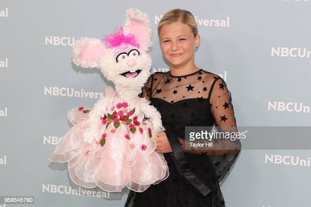 Darci Lynne attends the 2018 NBCUniversal Upfront Presentation at Rockefeller Center on May 14 2018 in New York City