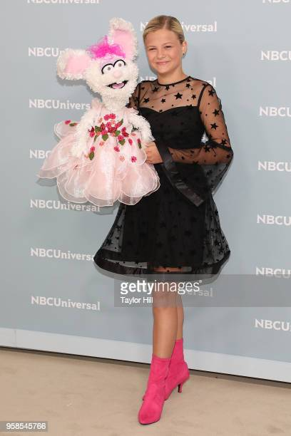 Darci Lynne attends the 2018 NBCUniversal Upfront Presentation at Rockefeller Center on May 14, 2018 in New York City.