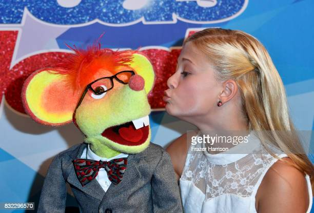 """Darci Lynne attends the Premiere Of NBC's """"America's Got Talent"""" Season 12 at Dolby Theatre on August 15, 2017 in Hollywood, California."""