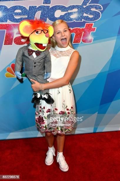 Darci Lynne attends the Premiere Of NBC's America's Got Talent Season 12 at Dolby Theatre on August 15 2017 in Hollywood California