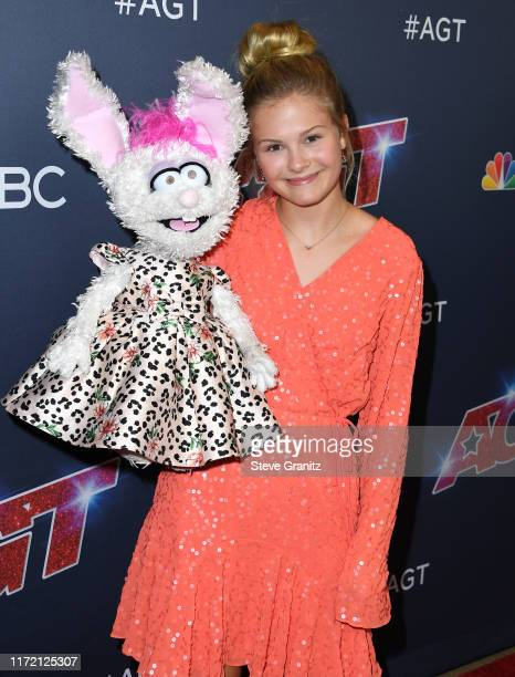 Darci Lynne Farmer arrives at the America's Got Talent Season 14 Live Show Red Carpet at Dolby Theatre on September 03 2019 in Hollywood California