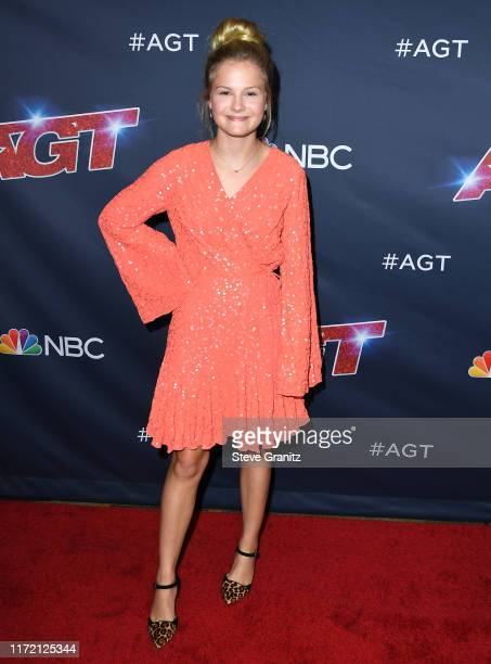 """Darci Lynne Farmer arrives at the America's Got Talent"""" Season 14 Live Show Red Carpet at Dolby Theatre on September 03, 2019 in Hollywood,..."""