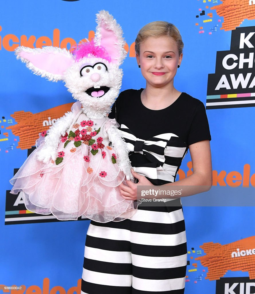 Darci Lynne Farmer arrives at the Nickelodeon's 2018 Kids' Choice Awards at The Forum on March 24, 2018 in Inglewood, California.