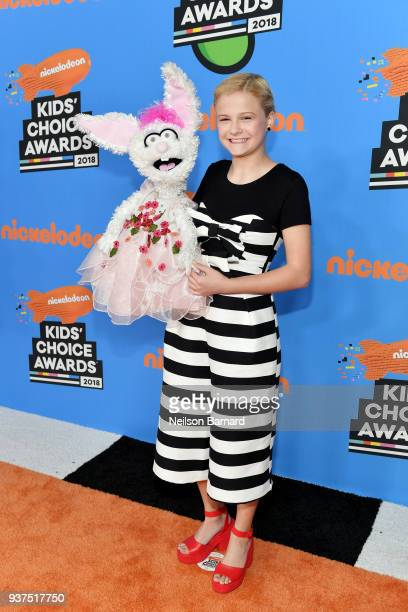 Darci Lynne Farmer attends Nickelodeon's 2018 Kids' Choice Awards at The Forum on March 24, 2018 in Inglewood, California.