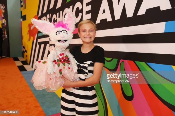 Darci Lynne Farmer attends Nickelodeon's 2018 Kids' Choice Awards at The Forum on March 24 2018 in Inglewood California