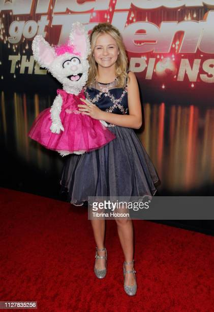 Darci Lynne Farmer attends the 'America's Got Talent The Champions' Finale at Pasadena Civic Auditorium on October 17 2018 in Pasadena California