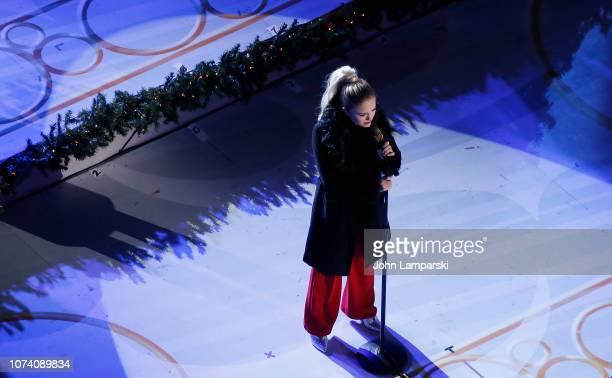 Darci Lynne Farmer performs during the 86th Annual Rockefeller Center Christmas Tree Lighting Ceremony at Rockefeller Center on November 28 2018 in...