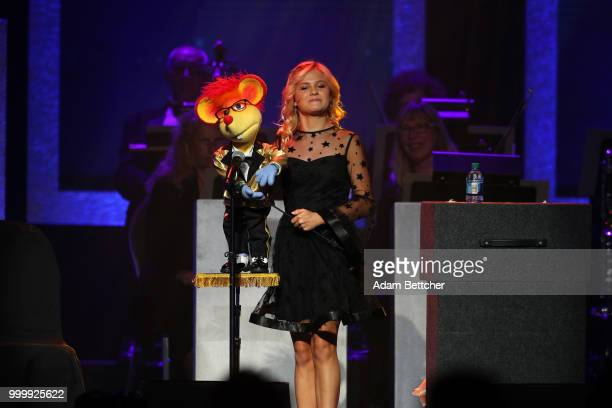Darci Lynne performs at the 2018 So the World May Hear Awards Gala benefitting Starkey Hearing Foundation at the Saint Paul RiverCentre on July 15...