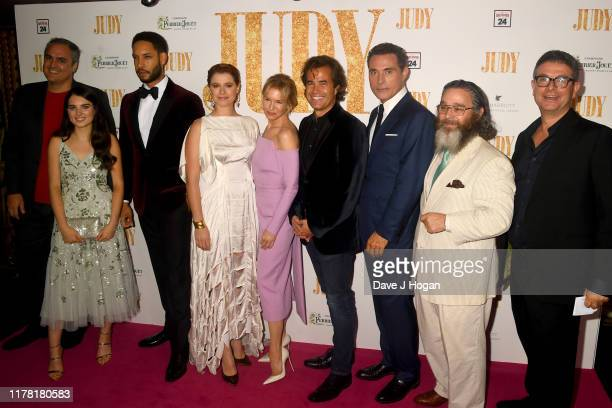 Darci Shaw Royce Pierreson Jessie Buckley Renée Zellweger Rupert Goold Rufus Sewell and Andy Nyman attend the Judy European Premiere at The Curzon...