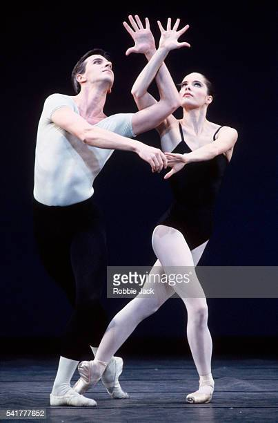 Darcy Bussell and Christopher Saunders in the Royal Ballet production of Agon