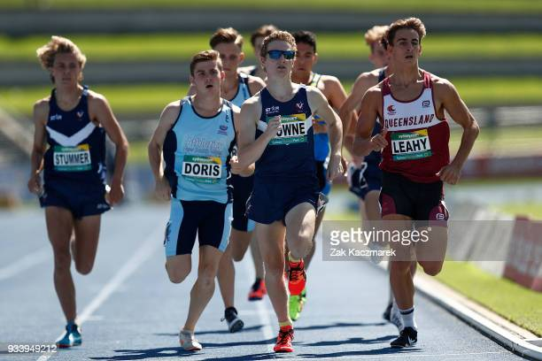 Darcy Powne of Victoria competes in the Men's 800 metre Under 20 Preliminary Final during day four of the Australian Junior Athletics Championships...
