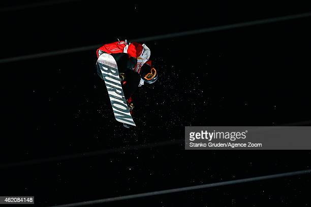 Darcy Sharpe of Canada takes 2nd place during the FIS Snowboard World Championships Men's Big Air on January 24 2015 in Kreischberg Austria