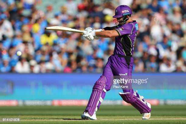 DÕArcy Short of the Hurricanes bats during the Big Bash League Final match between the Adelaide Strikers and the Hobart Hurricanes at Adelaide Oval...