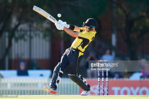Darcy Short of Western Australia bats during the 2021 Marsh One Day Cup Final match between New South Wales and Western Australia at Bankstown Oval...