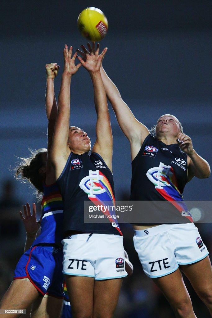 AFLW Rd 4 - Western Bulldogs v Carlton : News Photo