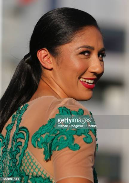 Darcy Vescio of the Blues looks on during the The W Awards at the Peninsula on March 28 2017 in Melbourne Australia