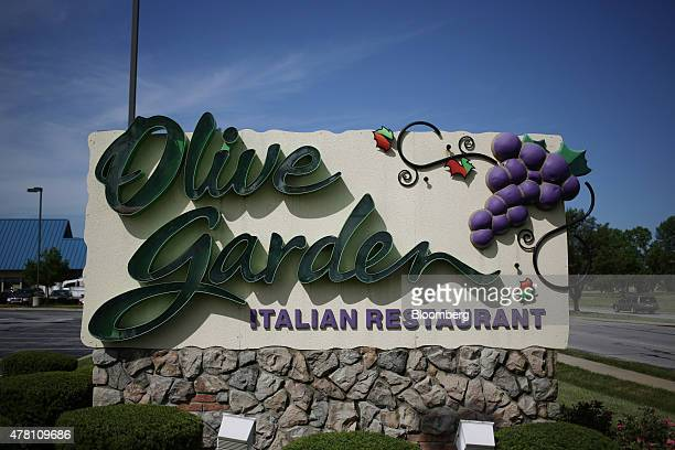 Darden Restaurants Inc Olive Garden signage is displayed outside of a location in Clarksville Indiana US on Monday June 22 2015 Darden Restaurants...
